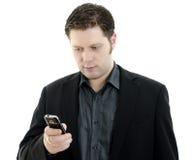 κινητή χρησιμοποίηση τηλεφωνικού πορτρέτου επιχειρησιακών ατόμων Στοκ φωτογραφία με δικαίωμα ελεύθερης χρήσης
