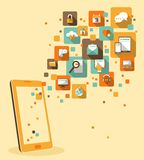 Κινητή app έννοια ανάπτυξης Στοκ Φωτογραφία