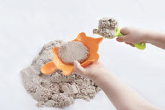 Κινητικά άμμος και παιχνίδια Στοκ Φωτογραφία