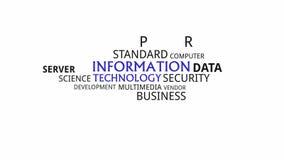 Κινητική τυπογραφία - τεχνολογία πληροφοριών απόθεμα βίντεο