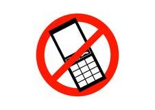 κινητός κανένα τηλεφωνικό σημάδι Στοκ εικόνες με δικαίωμα ελεύθερης χρήσης