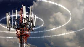 Κινητός πύργος τηλεπικοινωνιών Στοκ φωτογραφία με δικαίωμα ελεύθερης χρήσης
