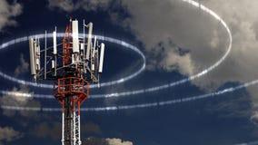 Κινητός πύργος τηλεπικοινωνιών Στοκ Φωτογραφία
