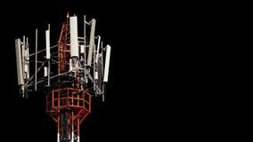 Κινητός πύργος τηλεπικοινωνιών Στοκ εικόνες με δικαίωμα ελεύθερης χρήσης