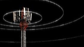 Κινητός πύργος τηλεπικοινωνιών Στοκ εικόνα με δικαίωμα ελεύθερης χρήσης