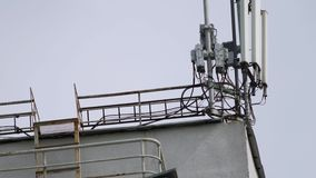 Κινητός τηλεφωνικός σταθμός βάσης απόθεμα βίντεο