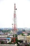 Κινητός τηλεφωνικός πύργος ή τηλεφωνικός πύργος κυττάρων Στοκ εικόνα με δικαίωμα ελεύθερης χρήσης