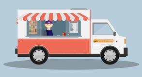 Κινητό αυτοκίνητο τροφίμων διάνυσμα Στοκ φωτογραφίες με δικαίωμα ελεύθερης χρήσης