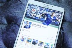 Κινητό ποδόσφαιρο app της FIFA Στοκ φωτογραφία με δικαίωμα ελεύθερης χρήσης