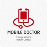 Κινητό πρότυπο λογότυπων γιατρών Στοκ εικόνες με δικαίωμα ελεύθερης χρήσης