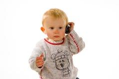 κινητό τηλέφωνο αγοριών Στοκ Εικόνες