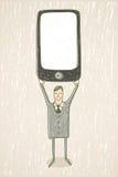 κινητό τηλέφωνο επιχειρηματιών Στοκ Εικόνα