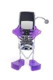 κινητό τηλέφωνο κατόχων Στοκ Φωτογραφία