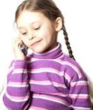 κινητό τηλέφωνο κοριτσιών Στοκ Εικόνα
