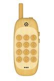 κινητό τηλέφωνο ξύλινο απεικόνιση αποθεμάτων