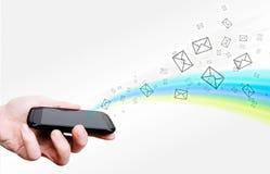Κινητό τηλέφωνο οθόνης αφής Στοκ εικόνες με δικαίωμα ελεύθερης χρήσης