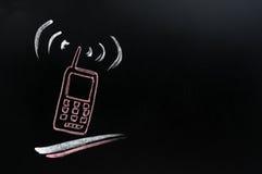 κινητό τηλέφωνο πινάκων ανασκόπησης στοκ εικόνα με δικαίωμα ελεύθερης χρήσης