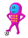 κινητό τηλέφωνο ποδοσφαίρου απεικόνιση αποθεμάτων