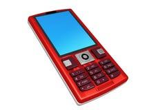 κινητό τηλεφωνικό κόκκινο διανυσματική απεικόνιση
