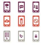 κινητό τηλεφωνικό σύνολο εικονιδίων Στοκ Εικόνες