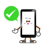 Κινητό τηλέφωνο, έξυπνα τηλεφωνικά κινούμενα σχέδια Στοκ εικόνα με δικαίωμα ελεύθερης χρήσης