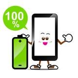 Κινητό τηλέφωνο, έξυπνα τηλεφωνικά κινούμενα σχέδια Στοκ Εικόνες