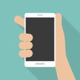 Κινητό τηλέφωνο διαθέσιμο, επίπεδο ύφος Στοκ Εικόνες