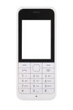 κινητό τηλεφωνικό λευκό Στοκ Εικόνα