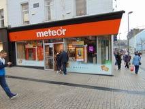 Κινητό τηλεφωνικό κατάστημα μετεωριτών στοκ εικόνες