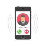 Κινητό τηλεφωνικό χτύπημα διανυσματική απεικόνιση