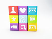 Κινητό τηλεφωνικό app εικονίδιο Έννοια λογισμικού Στοκ Φωτογραφία