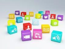 Κινητό τηλεφωνικό app εικονίδιο Έννοια λογισμικού Στοκ εικόνα με δικαίωμα ελεύθερης χρήσης