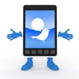 κινητό τιτίβισμα τηλεφωνι&kap διανυσματική απεικόνιση