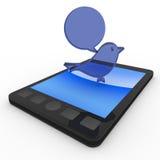 κινητό τιτίβισμα τηλεφωνι&kap απεικόνιση αποθεμάτων