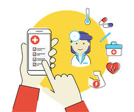 Κινητό app για την υγεία Στοκ εικόνα με δικαίωμα ελεύθερης χρήσης