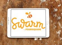 Κινητό app σμήνων λογότυπο Στοκ εικόνα με δικαίωμα ελεύθερης χρήσης