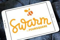 Κινητό app σμήνων λογότυπο Στοκ Εικόνες