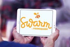 Κινητό app σμήνων λογότυπο Στοκ Φωτογραφία