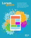 Κινητό app σχέδιο εφαρμογής Στοκ φωτογραφία με δικαίωμα ελεύθερης χρήσης
