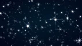 Κινούμενα αστέρια Starflight 1080p και τηλεοπτικός βρόχος υποβάθρου Χριστουγέννων απεικόνιση αποθεμάτων