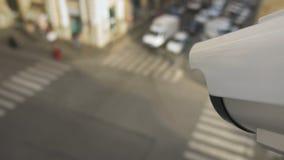 Κινούμενα κάμερα παρακολούθησης που εγκαθίστανται στο σταυροδρόμι φιλμ μικρού μήκους