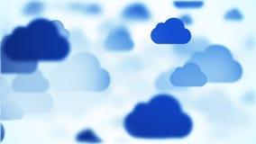 κινούμενα μπλε σύννεφα, 4K βίντεο ελεύθερη απεικόνιση δικαιώματος