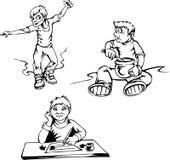κινούμενα σχέδια αγοριών διανυσματική απεικόνιση