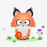 Κινούμενα σχέδια αλεπούδων Στοκ Εικόνες