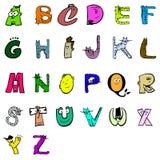 κινούμενα σχέδια αλφάβητου απεικόνιση αποθεμάτων