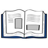 κινούμενα σχέδια βιβλίων Στοκ εικόνες με δικαίωμα ελεύθερης χρήσης