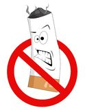 κινούμενα σχέδια κανένα κάπνισμα σημαδιών Στοκ Φωτογραφία
