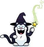 Κινούμενα σχέδια λίγη γάτα μαγισσών μαγική στοκ εικόνες