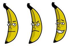 κινούμενα σχέδια μπανανών Στοκ Φωτογραφία