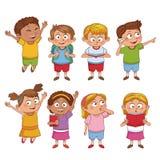 Κινούμενα σχέδια παιδιών σπουδαστών διανυσματική απεικόνιση